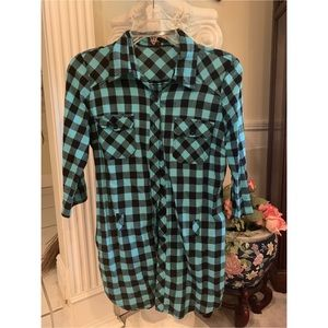Forever 21 Blue & Black flannel
